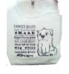 CAMISETA FAMILY RULES