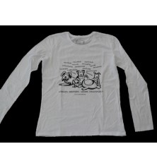 Camiseta Chica Manga Larga Negram,n,n,